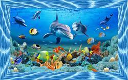 Màn cuốn in tranh biển